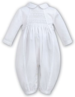 Boys White Christening Outfit with Smocking On The Chest Style 219 5cc60a2c3