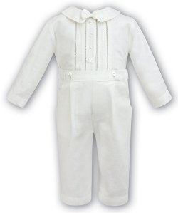 Boys Ivory Christening Outfit By Sarah Louise