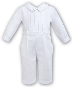 Lovely Boys Christening Outfit In White By Sarah Louise