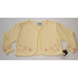 A4544 Sarah Louise baby girl cardigan in lemon