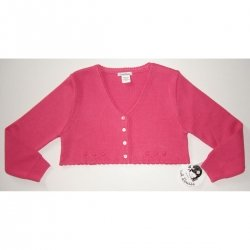 A718 Sarah Louise girl bolero in deep pink