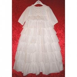 140 Sarah Louise girl white christening gown