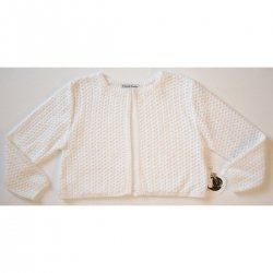 C714 Sarah Louise girl cardigan in white