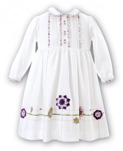 SALE Sarah Louise Ivory dress with lilac frills and flowers