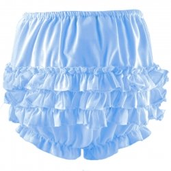 Sarah Louise Blue Frilly Knickers Panties