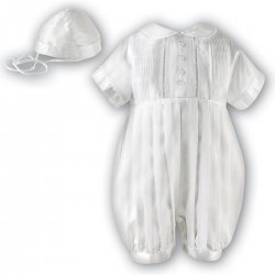 Sarah Louise Boys White Christening Outfit Silk Like