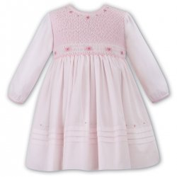 Sarah Louise Girls Elaborately Smocked Pink Dress