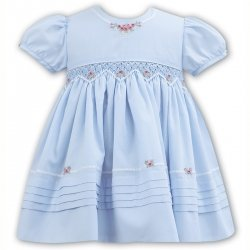 Sarah Louise Spring Summer Smocked Blue Dress