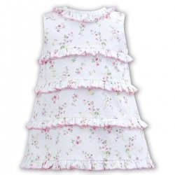 Sale Sarah Louise White Floral Sleeveless Summer Dress