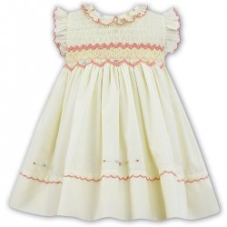 Sarah Louise Baby Girls Smocked Lemon Dress With Embroideries