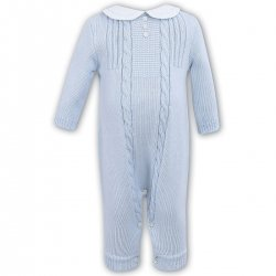 Sarah Louise Baby Boys Blue All In One Knitted