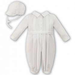 Sarah Louise Baby Boys Ivory Romper And Hat Outfit 240903df4
