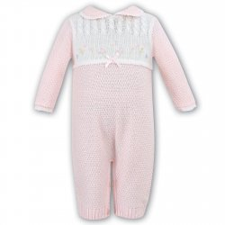 Sarah Louise Baby Girls All In One Pink Romper