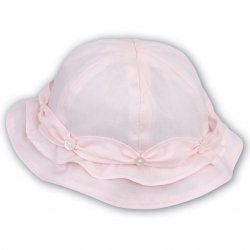 Sarah Louise Baby Girls Pink Summer Hat