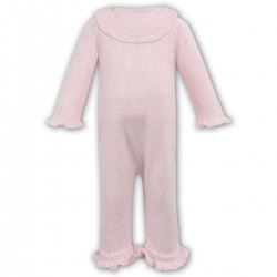 Sarah Louise Baby Girls Pink Knitted All In One