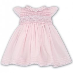 Gorgeous Girls Smocked And Embroidered Sarah Louise Pink Dress