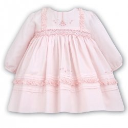 Sarah Louise Baby Girls Traditional Pink Smocked Dress