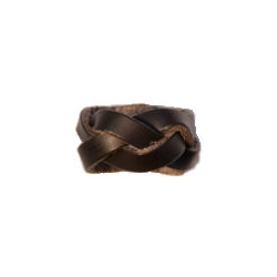 Woggle Plaited Leather for Scouts Brown Colour