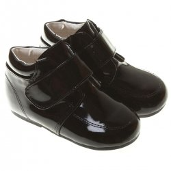 SALE Baby And Toddler Boys Black Boots in Patent