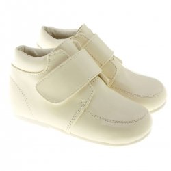 SALE Baby And Toddler Boys Ivory Boots in Patent
