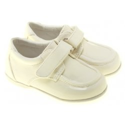 SALE Baby and Toddler Boys Ivory Cream Shoes Velcro Fastening