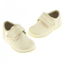 SALE Baby boys Smart Shoes in Ivory with Velcro fastening