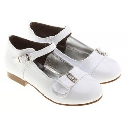 SALE Diamantes White Christening Kids Bridesmaid and Communion Shoes