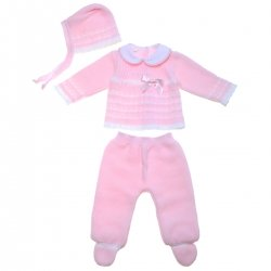 Baby Girls Pink Knitted Set 100% Cotton