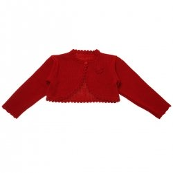 Baby Girls Red Bolero With Flower