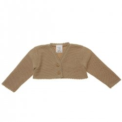 Baby Girls Tan Colour Bolero