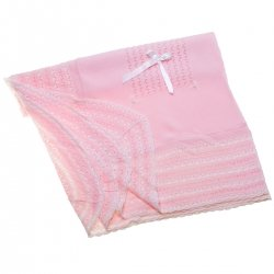 Baby Pink Shawl Embroideries And Bow