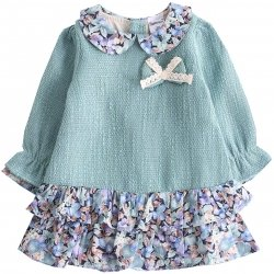 Spanish Baby Girls Pastel Green Floral Dress