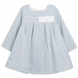Spanish Baby Girls Blue White Dress White Bows