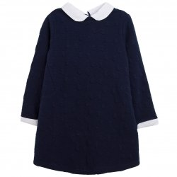 Spanish Girls Navy Poplin Bow Dress