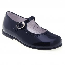 Mary Jane Style Girls Navy Shoes
