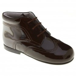 Made in Spain Boys Brown Patent Boots