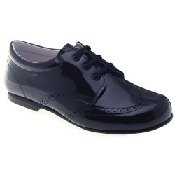 Boys Navy Shoes In Patent Leather