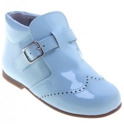 Blue Patent Boots For Boys Leather