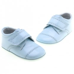 Baby Boys Blue Shoes leather patent  shoes