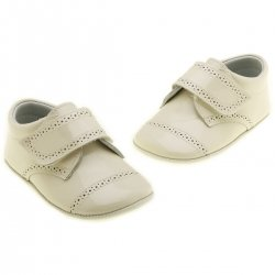 Leather Patent Shoes Baby Boys Ivory Shoes