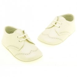 Baby Boys Ivory Patent  Leather Shoes