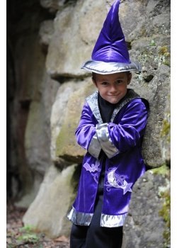 Boys Purple Wizard Outfit With Hat