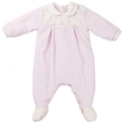 Soft And Comfortable Baby Girls Pink All In One Romper By Tutto Piccolo