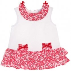 Sale Tutto Piccolo Baby And Toddle Girls White Red Flowers Summer Dress