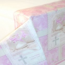 Christening Party Pink Tablecover