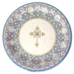 Pack of 8 Communion Or Christening Party Plates Large