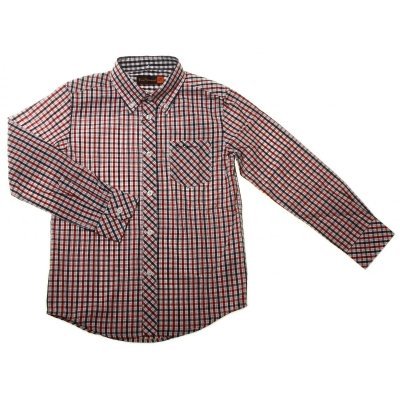 Picture of Classic Gingham Pattern Ben Sherman Boys Shirt bs0037nyj shirt multi
