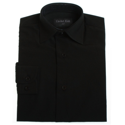 Picture of Boy's formal dress shirt in black VIA SHIRT BLACK