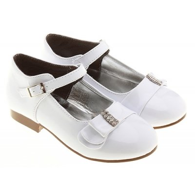 Picture of *SALE* Diamantes White Christening, Kids Bridesmaid and Communion Shoes g7902n shoes white