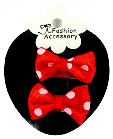 Polka Dots Bow Snap Clips Sheepies Baby With Little Or Fine Hairs
